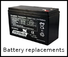 alarm battery replacements
